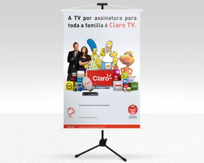 Banner Claro TV Os Simpsons