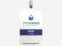 Crachá Pet Cursos